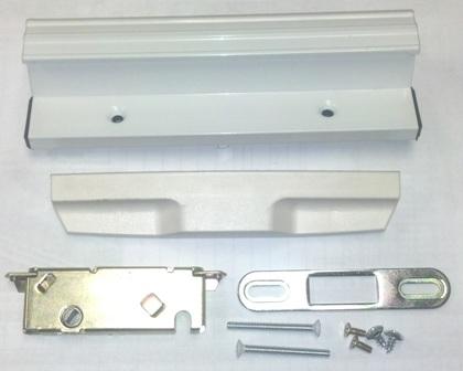 Door   Handle Set Only   Atrium Door   White   W/Knockout For Lock Set