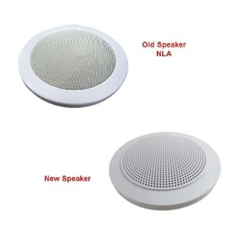 Radio - Speaker - Magnadyne - 5-1/4 w/Plastic Cover - White