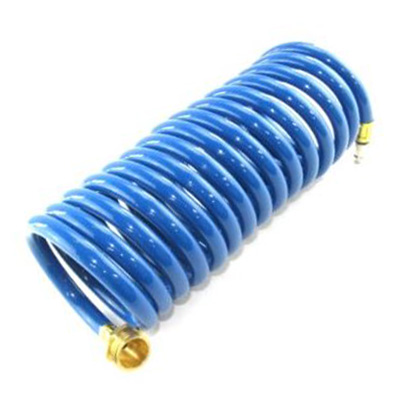 Faucet - Outside - Hose - 15' Coil w/Quick-Connect Plug Only - No Nozz