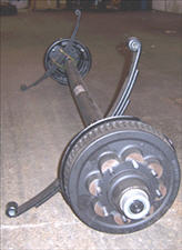 Axle - 7000# - Straight - D-70 - 8 Lug - TM - E-Z Lub - 12