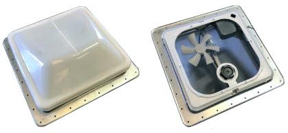 Vent - Roof - 12V - CSA - Radius - Hi Profile - Mill Finish - White