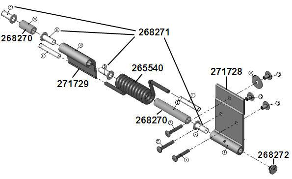 Plastic Garage Door Hinges trekwood rv parts - carbon / 2014 / door / garage