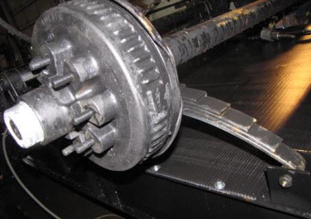 Axle - 7000# - Straight - D70 - 8 Lug - 12