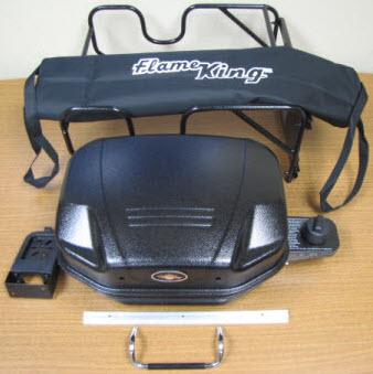 Grill - Gas - Flame King - Black - w/Mounting Bracket & Case