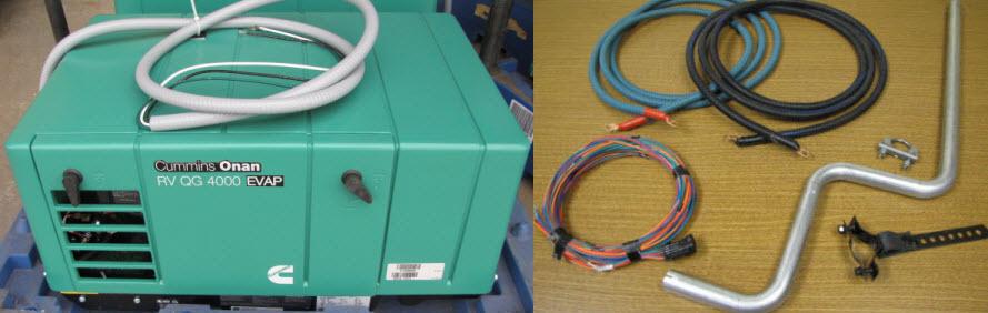 Generator - Kit - Cummins - TT - QG 4000 EVAP - w/12' Batt Cable