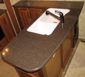 Trekwood rv parts montana 2012 decor countertop for Corian countertop price