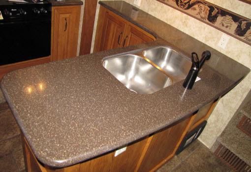 Countertop   Kitchen Top   MR362RLQ   W/Sink Cutout   LG Hi Macs   Mocha ...