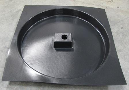 Tire - Spare Tire Pan - Black Roto-Mold