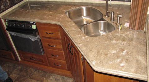 Countertop   Kitchen Top   AL3495FL   LG   Hi Macs   Bergamo   Roman Ogee  ...