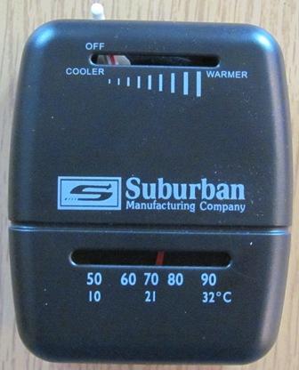 Furnace - Thermostat - Suburban - Black