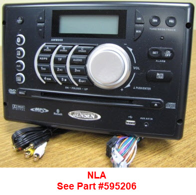 Radio - Wall Mount - AM/FM/CD/MP3/DVD/USB/BLUE TOOTH - AWM968