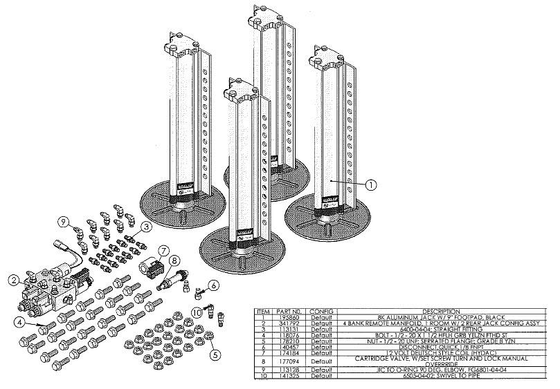 Trekwood RV Parts - Raptor / 2015 / Chassis & Accessories / Jack
