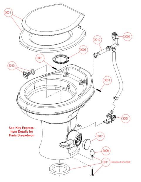 Trekwood Rv Parts Springdale 2017 Plumbing Toilet