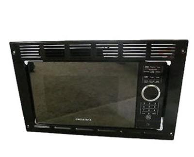 Microwave 9 Cu Ft Black W Wide Trim Kit