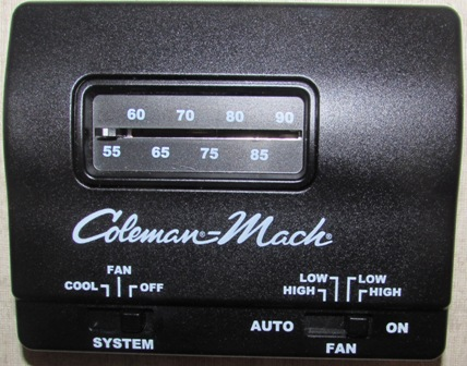 A/C - Thermostat - Cool Only - Black
