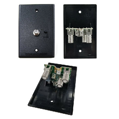 Antenna - Wall Plate Power Supply - 2 Sets - Cable In - Black